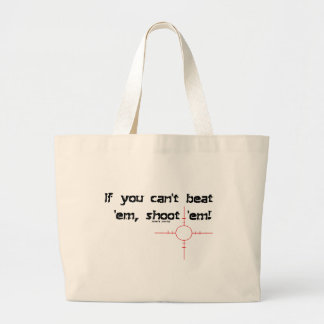 CantBeatEmShootEmBlack Canvas Bags