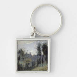 Canteleu near Rouen Silver-Colored Square Key Ring