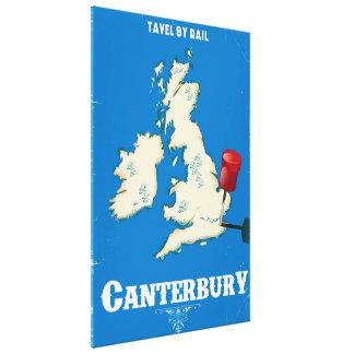 Canterbury British Isles vintage rail poster Canvas Print