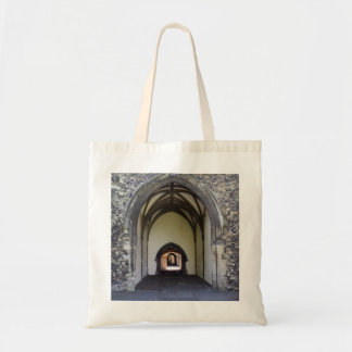 Canterbury Cathedral cloister Budget Tote Bag
