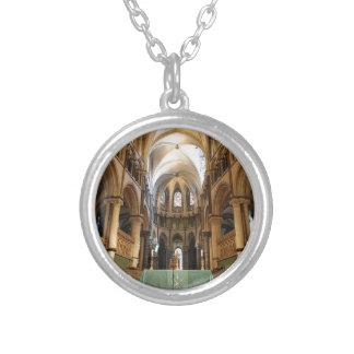 Canterbury Cathedral, Kent, UK Round Pendant Necklace