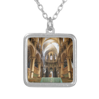 Canterbury Cathedral, Kent, UK Square Pendant Necklace