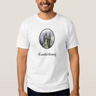 Canterbury Church Spirals Black jGibney The MUSEUM Tshirt