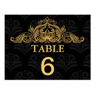 Canterbury Royale Wedding Table Number Card Postcard