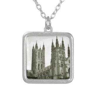 Canterbury Square Pendant Necklace