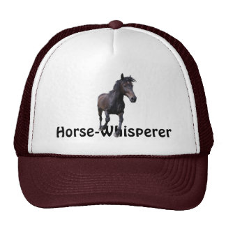 Cantering Black Stallion Horse Whisperer Gift Cap