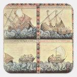 Cantiga 33, page from the 'Cantigas de Santa Maria Square Sticker