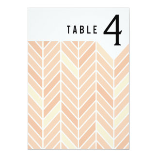 Cantilevered Chevron Table Numbers | blush 13 Cm X 18 Cm Invitation Card