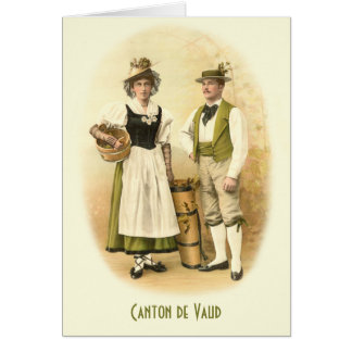 Canton de Vaud Vignerons in Traditional Costume Greeting Cards