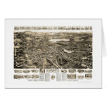 Canton, MA Panoramic Map - 1918 Greeting Cards