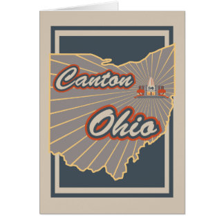 Canton, Ohio Greeting Card - Travel Print v2