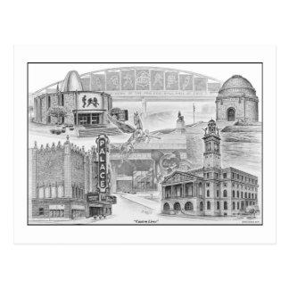Canton Ohio Historic Landmarks Postcard
