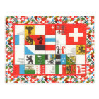 Cantonial flags of Switzerland Postcard
