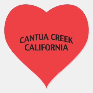 Cantua Creek California Heart Stickers