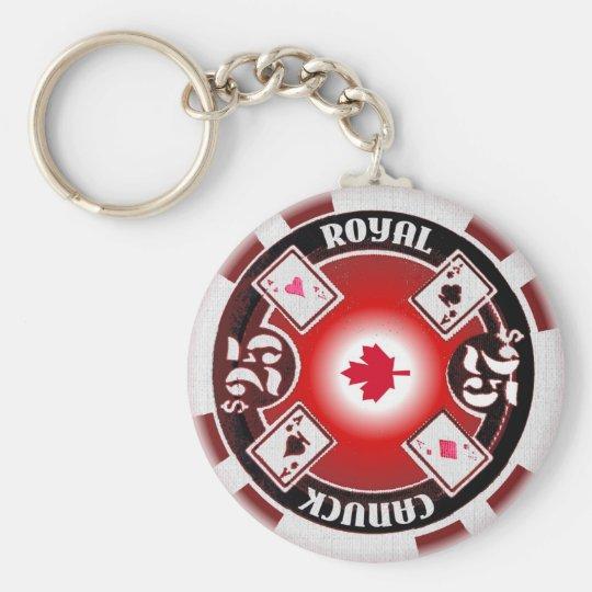 Canuck Royal Poker Keychain