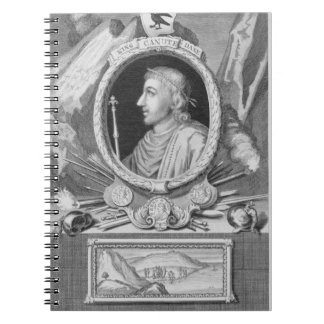 Canute the Great (d.1035) King of England, Denmark Spiral Note Book