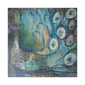 Canvas Art Print Peacock