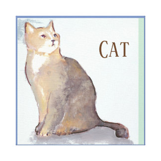 Canvas art with a cat