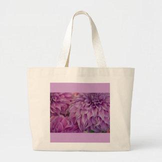 Canvas Bag, Dahlia # 151 Large Tote Bag