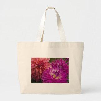 Canvas Bag, Dahlias # 150 Jumbo Tote Bag