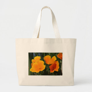 "Canvas Bag, ""FOUR CALIFORNIA POPPIES"" Large Tote Bag"