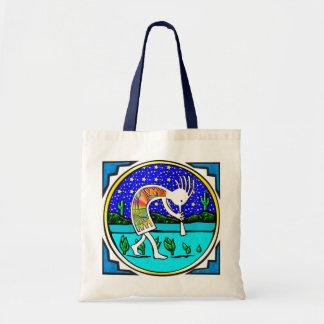 Canvas Bag: Kokopelli, Flute Player of the Desert Tote Bag