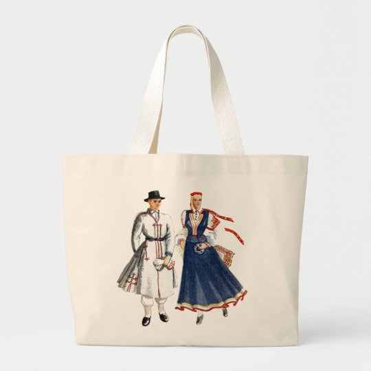 Canvas bag with tautu meita un dels
