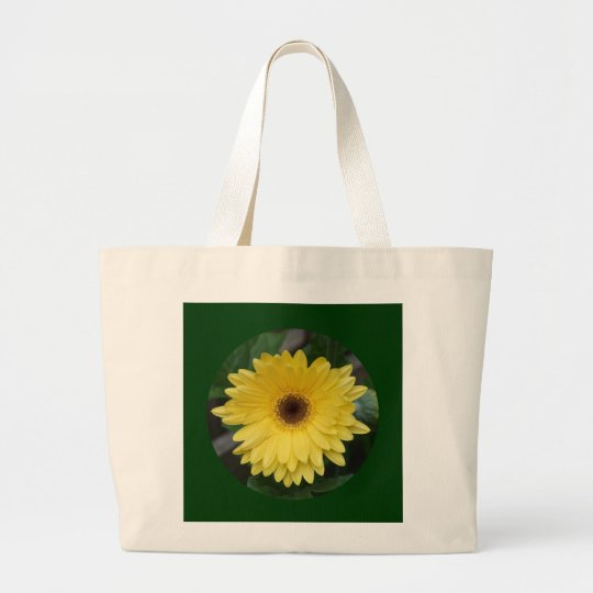 Canvas Bag, Yellow African Daisy, Circle C-1 Large Tote Bag