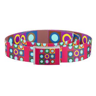 Canvas Belt Metal tin buckle Graphic dots n circle
