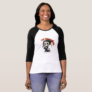 Canvas Black Sleeved T-Shirt, Grim Reader T-Shirt