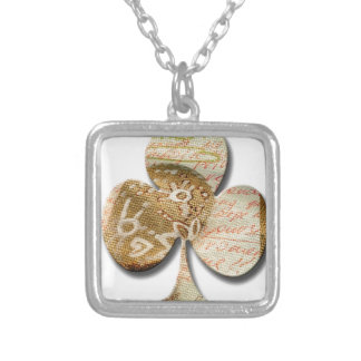Canvas clover silver plated necklace