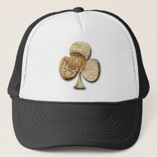 Canvas clover trucker hat