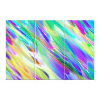Canvas Colorful digital art splashing Canvas Print
