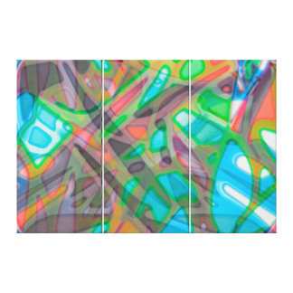 Canvas Colorful Stained Glass
