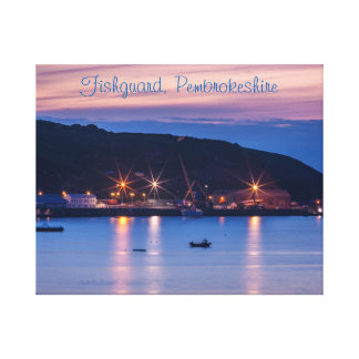 Canvas Fishguard Pembrokeshire Wales boats
