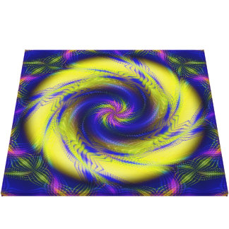 Canvas Fractal Spiral Vortex