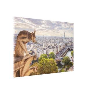 Canvas | Gargoyle & Eiffel Tower View | Paris