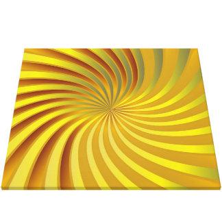 Canvas gold spiral vortex