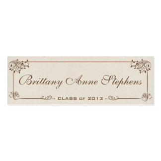 Canvas Graduation Name Card Insert Pack Of Skinny Business Cards