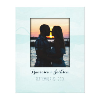 Canvas Guest Book Alternative Wedding Photo Sign