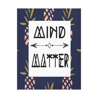 Canvas Home Decor - Mind over Matter Canvas Print
