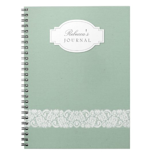 Canvas & Lace Rustic Personalised Notebook