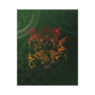 Canvas orange gred green Elephant Ganesha Mandala Canvas Prints