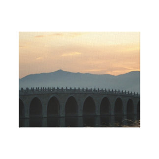 Canvas picture of a tranquil Chinese bridge Canvas Print