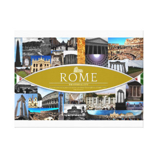 Canvas Poster with Scenes from Rome