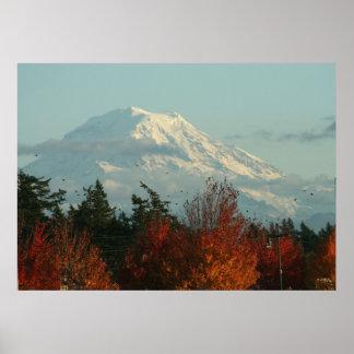 Canvas Print: Autumn Mt. Rainier