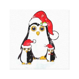Canvas Print Christmas Penguins