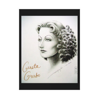 Canvas print of movie star Greta Garbo