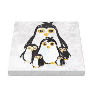 Canvas Print Penguins