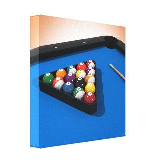 Canvas Print: Pool Balls / Billiards Canvas Print